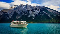 Lake Minnewanka (achinthaMB) Tags: lakeminnewanka cruise brewster canada alberta banffnationalpark boat mountain rockies canadianrockies canonrebelt2i canoneos550d