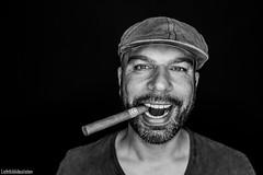 Nonsmoker (Lichtbildidealisten.) Tags: man male beard teeth cigar nonsmokerstudio