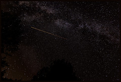 Scarce to be Counted - view full size! (France through my eyes) (docoverachiever) Tags: night milkyway france countryside multitudes stars nature sky jettrail luberon naturallight millions provence