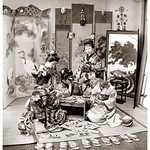 STEP ONE -- ARRANGE YOUR HIRED GEISHA AND MAIKO IN A STUDIO, HAND THEM A STEREOSCOPE, AND THROW A BUNCH OF STEREOVIEWS ALL OVER THE PLACE thumbnail