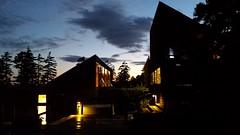 Evening at Haystack (Emily Miller Kauai) Tags: haystack deerisle maine evening night dusk silhouette building sky