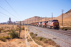 SF619+SEVEN other locos. The rearmost loco is a BNSF switcher in transit. Eastbound manifest seen at Monolith CA. (mikul44171) Tags: monolith tehachapi manifest cement works