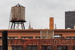 The Chrysler Building behind a water tank, New York City (peripathetic) Tags: 2016 5d 5dmk3 5dmkiii america canoneos5dmk3 nyc newyorkcity us usa unitedstates canon chryslerbuilding manhattan manhattanisland newyork watertank