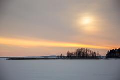 Winter Sunday - Finland (Sami Niemelinen (instagram: santtujns)) Tags: joensuu suomi finland pohjois karjala north carelia talvi winter lumi snow pyhselk jrvi lake koivuniemi