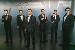 The Name's Bond (Strangelove 1981) Tags: 2016 berlin holiday travel jamesbond madametussauds piercebrosnan danielcraig rogermoore seanconnery timothydalton georgelazenby gun tux suit tuxedo