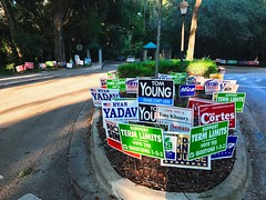 There comes a point when quantity completely obliterates quality (Lee Bennett) Tags: overkill advertise campaign sign political politics