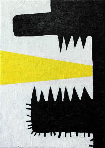 Alex Gene Morrison 'Jaw Yellow Blast', 2016 Oil on canvas 30x21cm