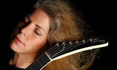 Gibson Girl (Studio d'Xavier) Tags: gibsongirl marynell musician rockroll portrait gibsonexplorer strobist