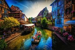 Colmar, Alsace (_lyz_) Tags: colmar alsace france francia alsacia europa europe petit venise venice barco boat canal river beautiful nice love travel photography canon gran angular