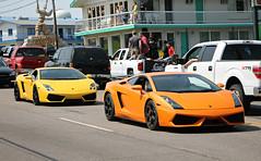 Lamborghini Gallardo x2 (SPV Automotive) Tags: lamborghini gallardo coupe exotic sports car supercar orange cars lp5604 yellow