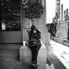 Ruth (ShelSerkin) Tags: shotoniphone hipstamatic iphone iphoneography squareformat mobilephotography streetphotography candid portrait street nyc newyork newyorkcity gothamist blackandwhite