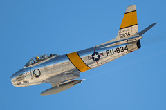 F-86F Sabre | NX186AM | 51-2834 | FU-834 (Nick Collins Photography, Thanks for 2.1 million v) Tags: north american f86f sabre nx186am 512834 fu834 aircraft airshow flying military canon 7dmk2 500mm nellis nevada usaf usa las vegas aviation nation