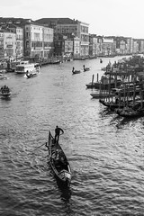 Grand Canal (robertdownie) Tags: city water boat europe italy architecture building venezia black white venice italia canal grand gondola veneto