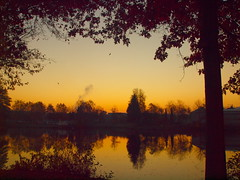 SOON SUNRISE PB141394 (hans 1960) Tags: sun sunrise fall autumn laub leaves sonne sol soleil trees wasser water weiher pond farben colours colourful nature natur himmel sky bäume landschaft landscape spiegelung mirrow germany
