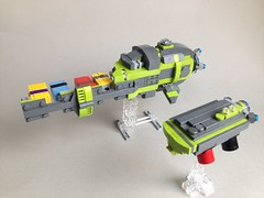 Gurdergen Convoy (TenorPenny) Tags: lego microscale microspace cargo container
