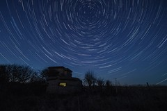 trails (selvagedavid38) Tags: night sky stars trails stacked polaris pillbox time rotation bawdsey
