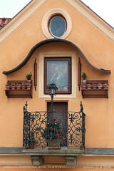 Holy balcony (srkirad) Tags: architecture building balcony icon religion christian flowers outdoor prague czechrepublic praha winter travel