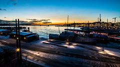 Port of Oslo at sunset, Oslo, Norway (Davide Tarozzi) Tags: portofosloatsunset oslo norway sunset port norvegia kongeriketnoreg kongeriketnorge