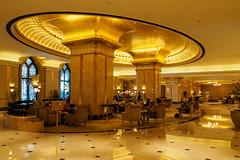 Emirates Palace - Le Cafe (Karsten Gieselmann) Tags: 714mmf28 abudhabi architektur asien em5markii emiratespalace farbe gebude gelb gold hotel innenraum mzuiko microfourthirds olympus private reise vae architecture building color golden kgiesel m43 mft travel yellow