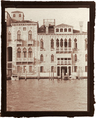 Grand Canal (Philippe Torterotot) Tags: 4x5 contact chamonix45n2 fomapan100 vandyke altprocess procedesalternatifs analog film venezia venise venice venedig italie italia italy travel voyage urban ville architecture classique