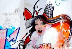 Fresque murale, street art - Festival Remp'arts Azemmour. (Olivier Simard Photographie) Tags: africa woman streetart colors hat wall painting graffiti paint couleurs tag femme wallart peinture morocco berber maroc chapeau medina mur fresco artmural afrique fresque berbère médina guerrier azemmour artdesrues rempartsfestival festivalremparts