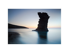 Dawn, Korthi (Christos Andronis) Tags: blue water dawn moody scenic tranquility calm greece balance innerpeace cyclades contemplation rockformation bythesea      korthi