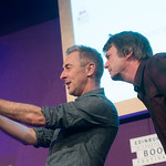 Alan Cumming and Ian Rankin selfie
