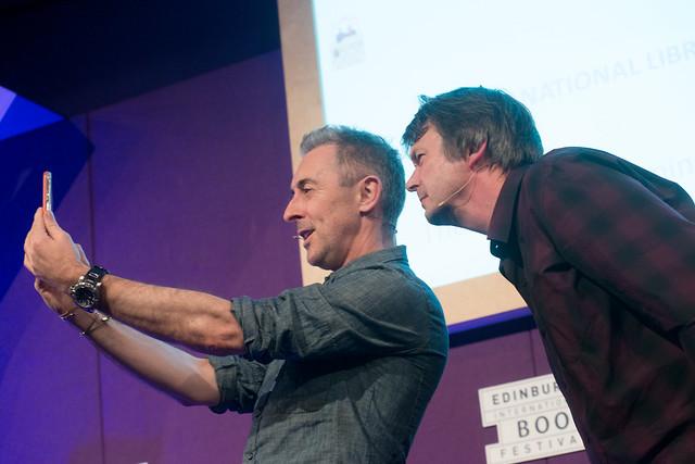 Alan Cumming and Ian Rankin selfie