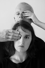 il pour il. (cecile Courouble) Tags: portrait blackandwhite bw canon eyes father oeil emotions protection