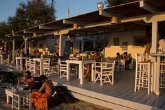 Summer sunsets (ramosblancor) Tags: travel sunset beach caf bar atardecer holidays terrace playa greece grecia vacaciones terraza cyclades naxos viajar sunlounge agiosgeorgios loungebar ccladas