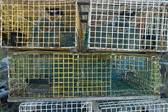 20150915 USA New England 01770 - Copy (R H Kamen) Tags: usa horizontal america outdoors photography trapped fishing day pattern order maine newengland nopeople cage stack backgrounds inarow lobstertraps lobsterpot colorimage largegroupofobjects fishingindustry animalthemes colourimage rhkamen