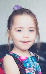 Big Blue Eyes (steven.richardson1) Tags: blue portrait cute girl smile face hair eyes pretty head niece