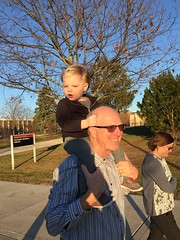 """Paul with Grandpa Miller at Northern Illinois • <a style=""""font-size:0.8em;"""" href=""""http://www.flickr.com/photos/109120354@N07/22856575359/"""" target=""""_blank"""">View on Flickr</a>"""