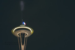 seattle standing with paris in solidarity (mohini :: mangopowergirl.com) Tags: seattle november blue autumn red white fall love night french flying peace northwest queenanne space flag united solidarity needle rainy tricolor pacificnorthwest wa spaceneedle tribute wastate washingtonstate pnw emeraldcity tricolour seattlecenter fluttering sympathy halfmast halfstaff troiscouleurs americantribute mangopowergirlcom jesuisparis parisattacks mohinipatelglanz standingwithparis