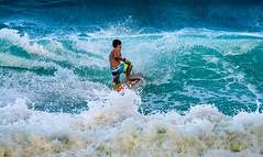360 spinner (Traylor Photography) Tags: vacation wet water island hawaii oahu action surfer wave surfing spray riding local boogieboard makapuubeach 360spinner
