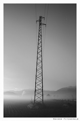 Nature & Industrialization (Raissa Fitzgerald Photographer) Tags: morning nature fog alba foggy natura nebbia fili abruzzo mattina elettricità foggymorning presto industrialization corfinio