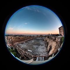 Cagliari (Bastione Saint Remy) - Sunset Landscape (Freak_Irish_Sister) Tags: sardegna sunset canon landscape tramonto sardinia sigma fisheye castello grandangolo cagliari bastione kalaris casteddu bastionesaintremy canon70d