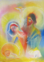 Peace of The Holy Family. Christmas 2015 by Stephen B. Whatley (Stephen B. Whatley) Tags: christmas holiday newyork art james navidad heaven day catholic peace mary jesus noel holy expressionism lamb happyholidays stable heavenly nativity saintjoseph babyjesus christmasday 2015 blessedvirginmary blueribbonwinner whatley abigfave christmasusa colourartaward holynativity stephenbwhatley artofimages artiststephenbwhatley stephenwhatley christmas2015 christmasday2015
