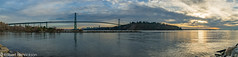 Lion's Gate Bridge Pano (Robert Henrickson) Tags: panorama skyline vancouver burrardinlet stanleypark lionsgatebridge prospectpoint
