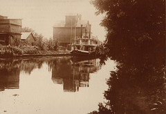 Canal, Large Boat, Feedmill