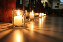 A Light in the Dark (2016) (kinlonfan) Tags: candles light chapel prayer photography rays dark