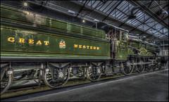 Swindon Steam Museum 8 (Darwinsgift) Tags: swindon steam museum great western railway nikkor 20mm f18 g hdr photomatix train locoomotive indoor