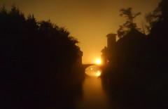 Sunrise (Meppi73) Tags: saintjeanpieddeport sunrise sun morning night sonnenaufgang morgen morgens brcke bridge pont water canal kanal river fluss unscharf reflection reflektion frankreich france baskenland pays basque euskal herria gr10