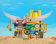 Rolls Royce (Rodolfo Frino) Tags: painting art modernart artistic car cars automobile automobiles rollsroyce horn 1927