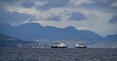 MV Argyle and MV Bute Passing on the Upper Clyde (Russardo) Tags: clyde scotland mv argyle bute passing upper calmac cal mac caledonian macbrayne ferry
