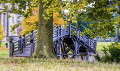 painting of bridge in Croome Park (Bobinstow2010) Tags: croomcourt water bridge house mansion autumn painting nationaltrust worcestershire pershore arty topaz photoshop