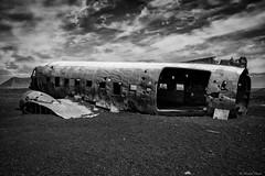 Abandoned (michael.mu) Tags: leica m240 iceland slheimasandur dc3 abandoned crash blackandwhite bw monochrome silverefexpro 35mm leicasummicron35mmf20asph leicasummicronm1235mmasph outdoor derelict blackbeach