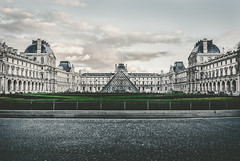 urban pharaon (Pixelicus) Tags: pyramide louvre paris architecture clouds nuages gris grey