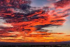 Sunrise (inlightful) Tags: sun sunrise sunshine clouds sky nature outdoors weather pink orange yellow sunset morning evening rural southwest newmexico socorrocounty
