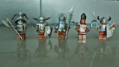 Uruk-hai Berserkers (11inthewoods) Tags: lego lotr lordoftherings urukhai berserker warrior castle custom brickwarriors brickforge minifig minifigures armor kreo